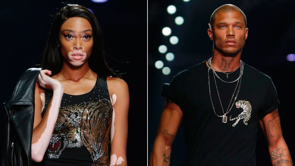"""Winnie Harlow and the """"hot convict"""" Jeremy Meeks"""