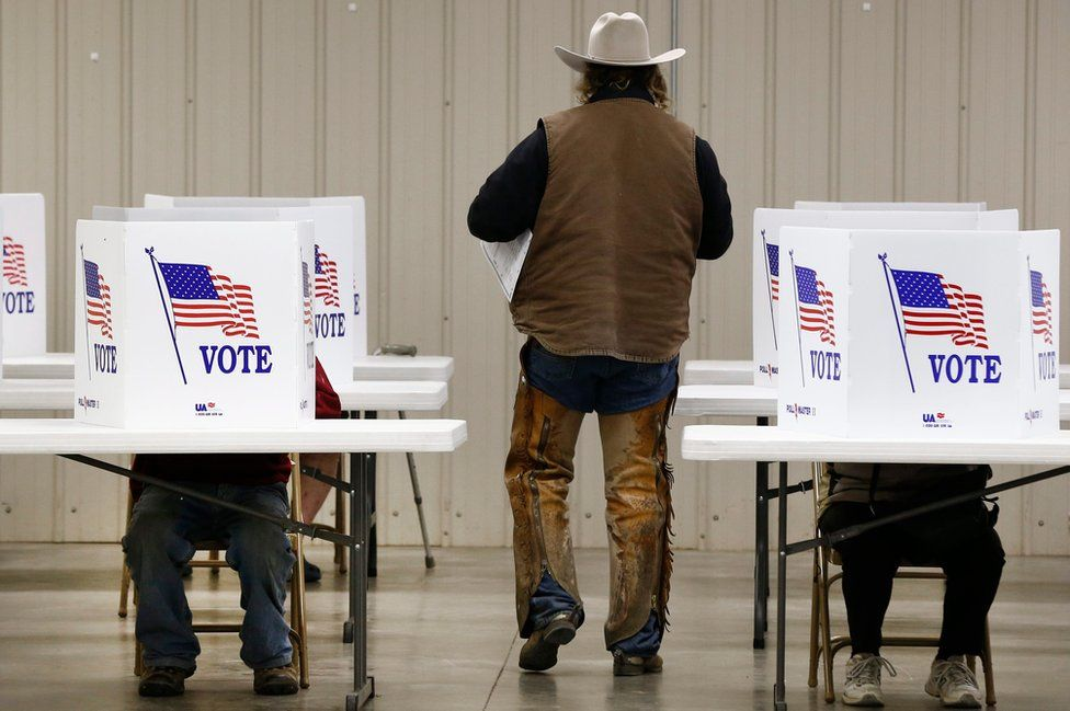 A voter in Kansas