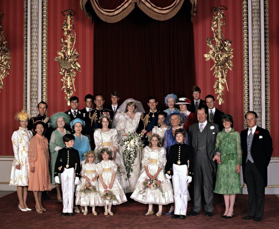 The wedding of the Prince and Princess of Wales