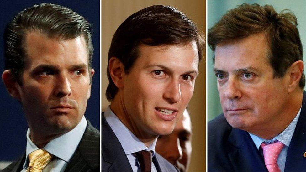 Ông Trump Jr, Kushner và Manafort