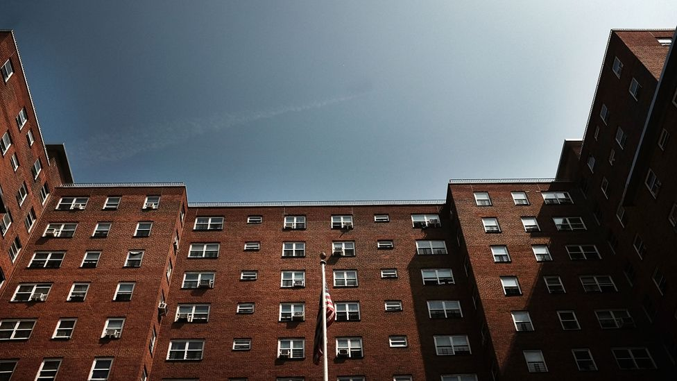 Public housing building in New York City