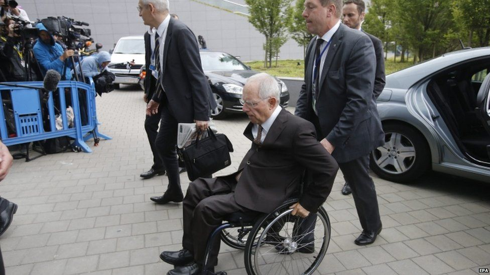 German Finance Minister Wolfgang Schaeuble, 12 July