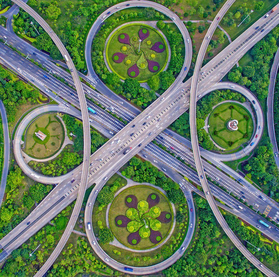 Снимок дорог в китайской провинции Гуандонг