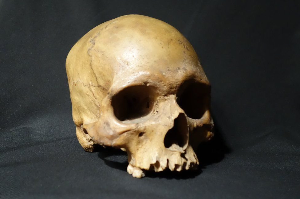 The skull of a 32 year old indian soldier who revolted against the british