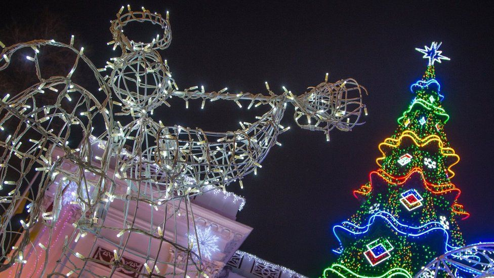 Ялинка на Думській площі в Одесі