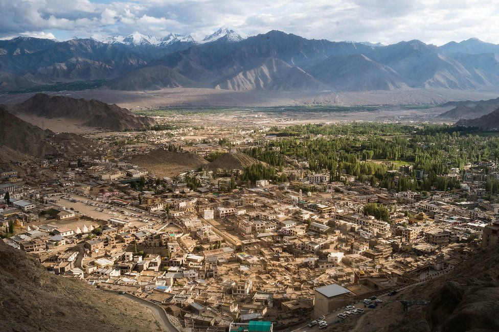 An aerial view of Ladakh