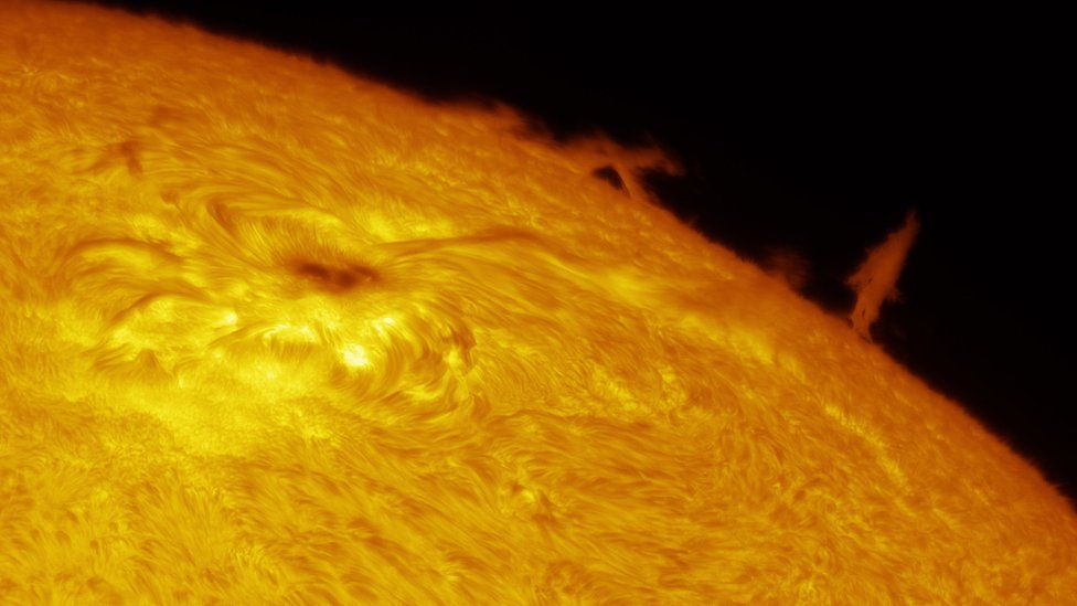 A solar limb comes from the surface of the sun