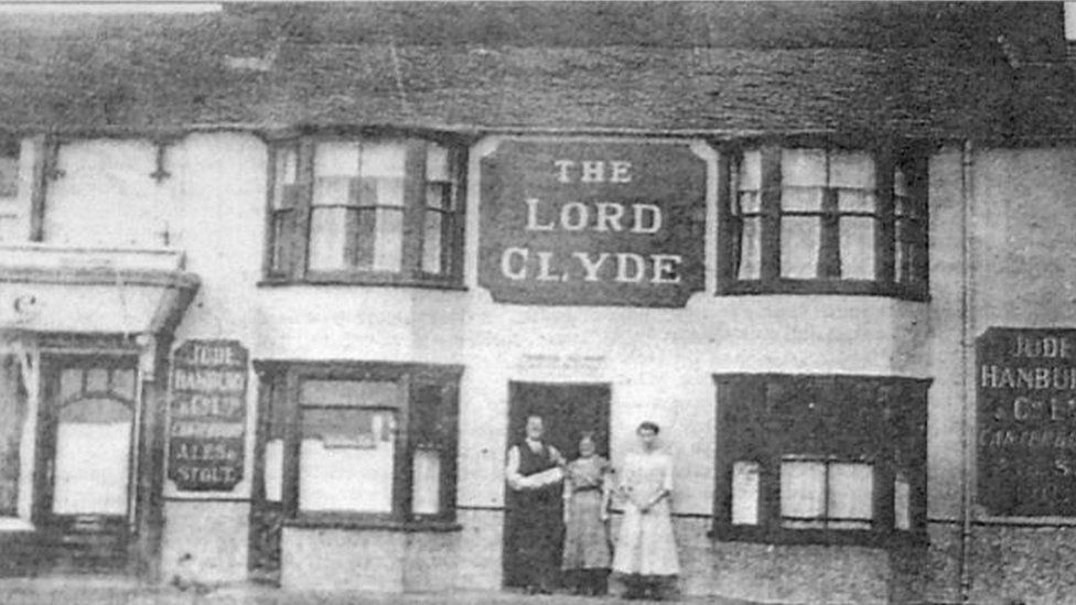 The Lord Clyde pub in Kent where the skull was discovered in 1963