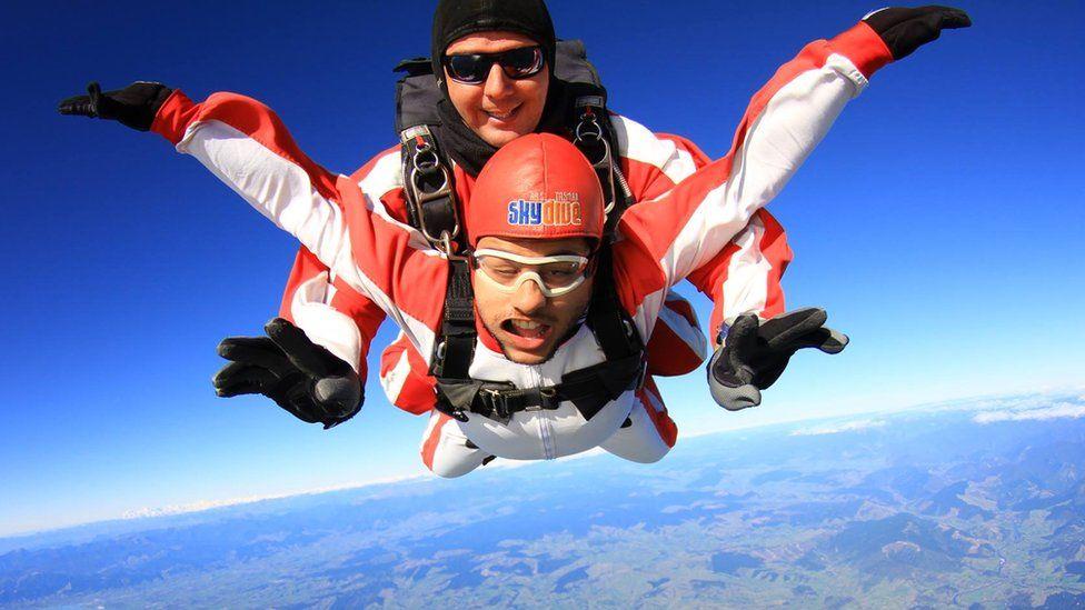 Allan skydiving