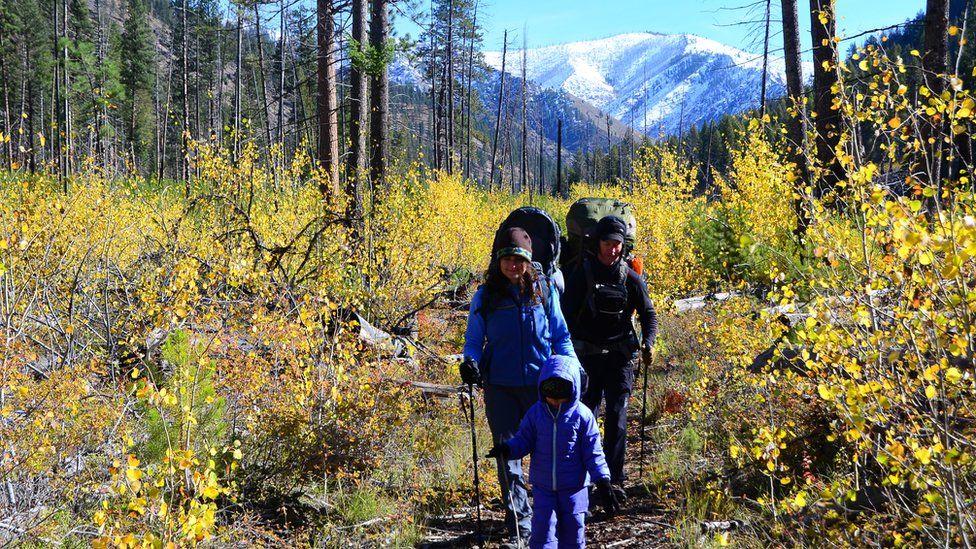 La familia Means en una área remota de Idaho. (Foto: cortesía familia Means)