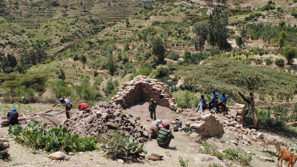 """La antigua """"ciudad de gigantes"""" descubierta por arqueólogos en la región de Harlaa en Etiopía"""