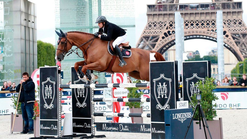 Гийом Кане на лошади