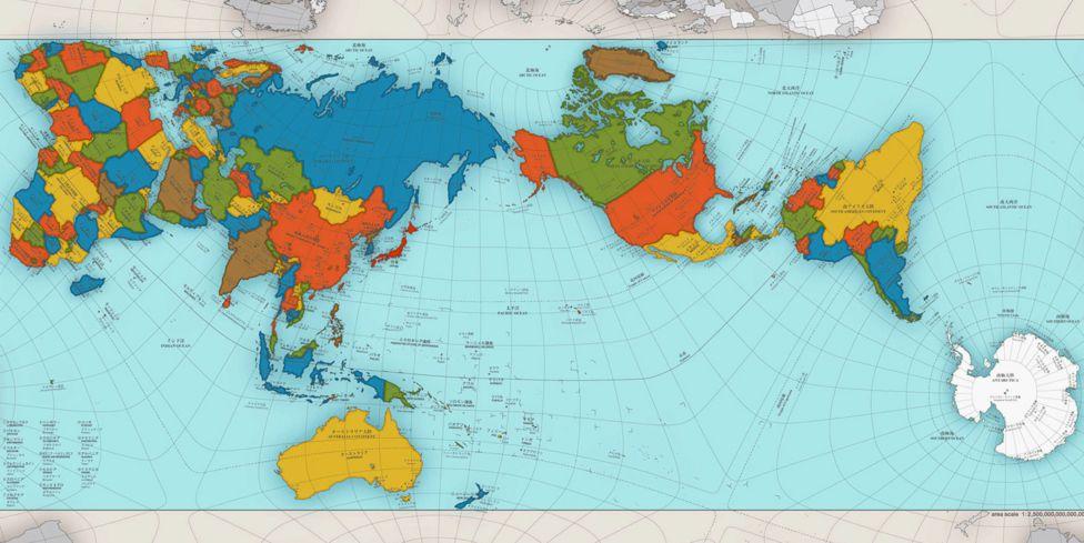 Worksheet. El extraordinario mapa que muestra al mundo como es realmente