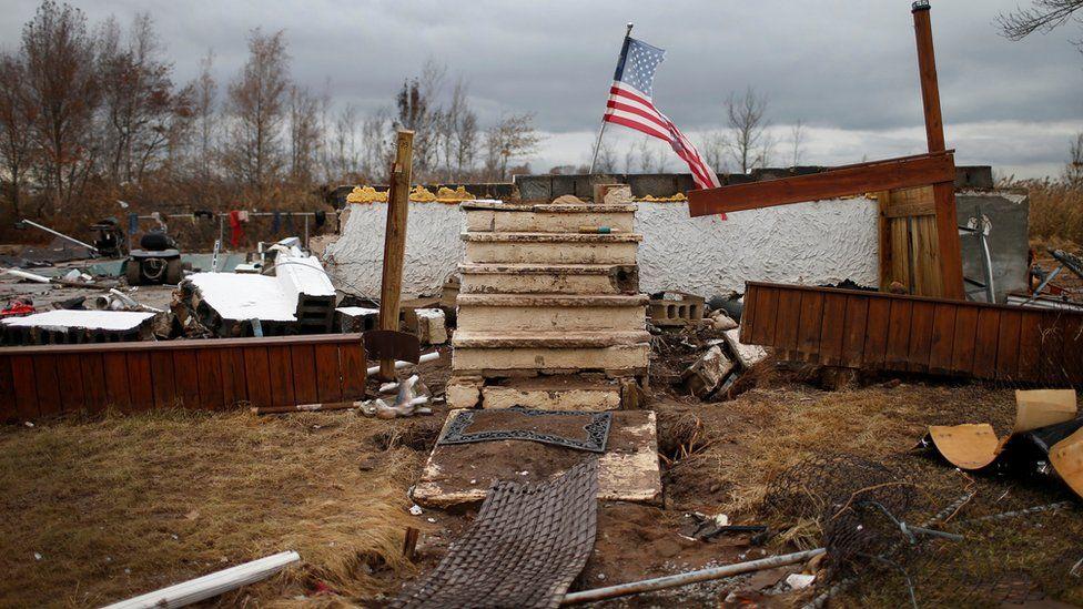разрушенный дом в результате урагана
