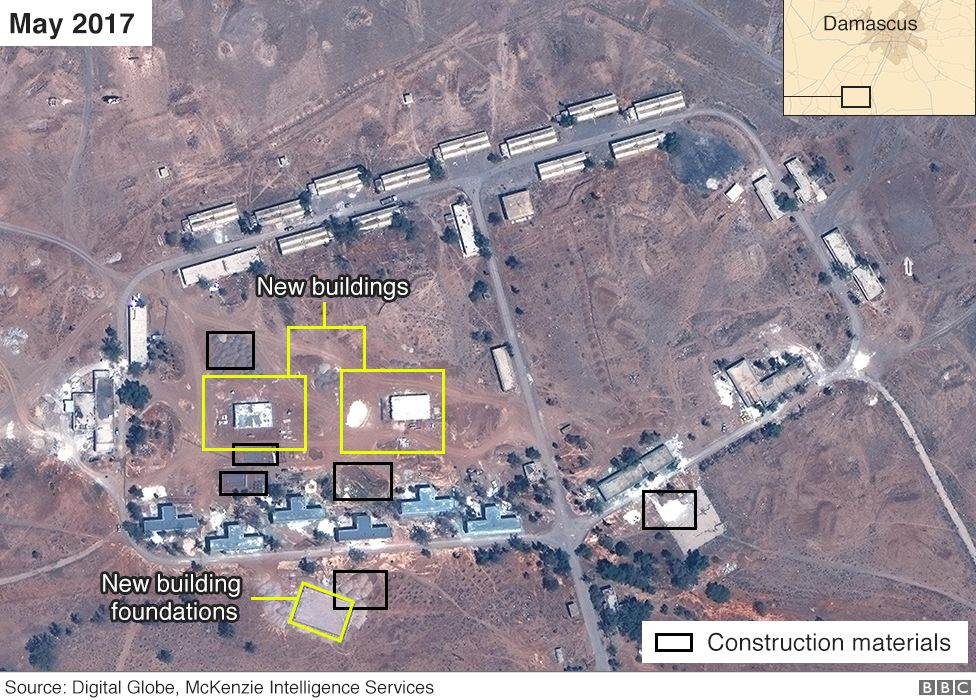 Satellite image of compound in Syria