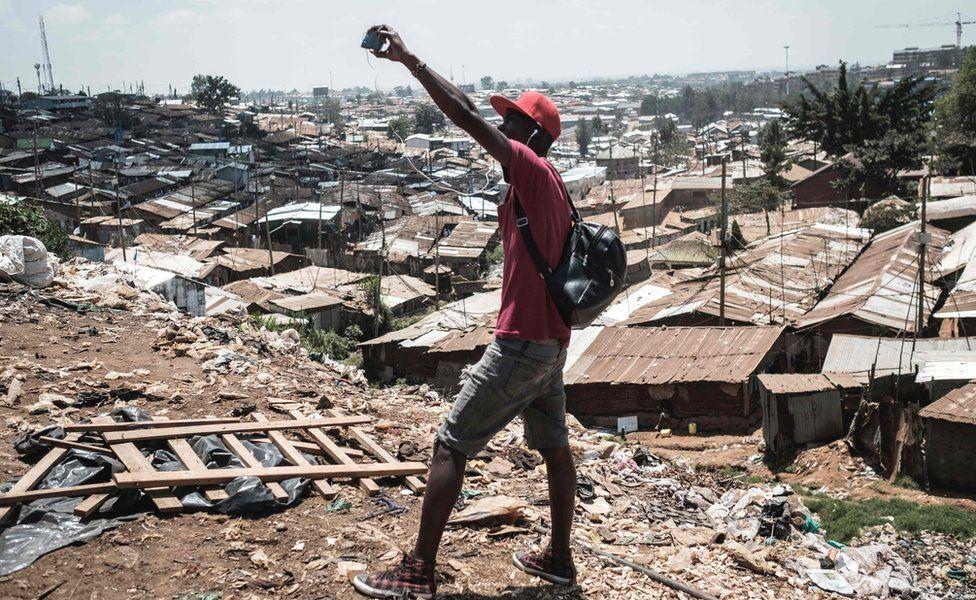 A man taking a selfie in Nairobi, Kenya - Wednesday 4 October 2017
