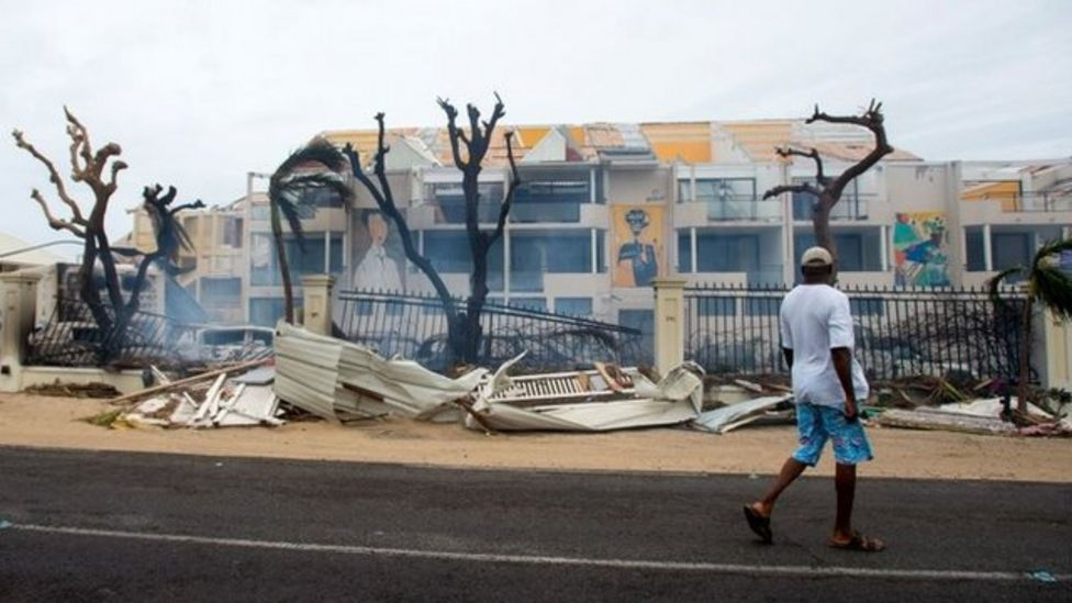 Buildings damaged on St Martin