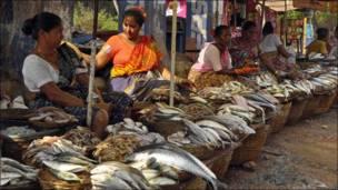 Торговцы рыбой в Индии