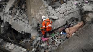 Labores de rescate en China