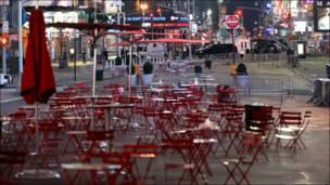 Пустая Таймс-сквер