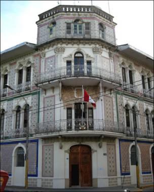 Casa del esplendor del caucho en Iquitos.