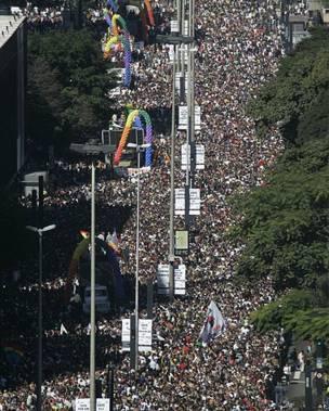 Panorámica del desfile