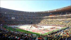 На церемонии открытия ЧМ-2010
