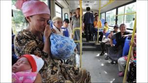Chuyến xe buýt rời Osh