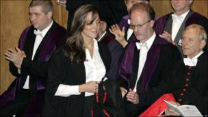 Kate Middleton graduándose