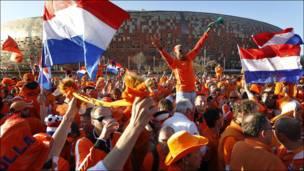 Holandeses frente al Soccer City