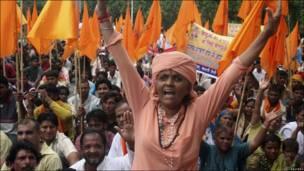 Protesta en la India