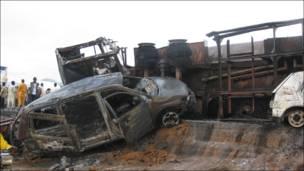 Hotuna: Hadarin tanker mai a Madalla