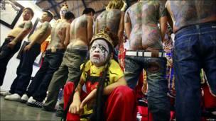 Feria de tatuadores en Taiwán