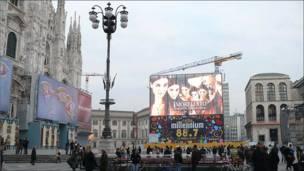 Plaza del Duomo en Milán, Italia.