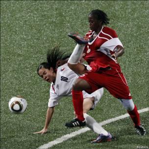 Una imagen de la final del torneo de fútbol femenino de los Juegos Olímpicos de la Juventud que se celebran en Singapur