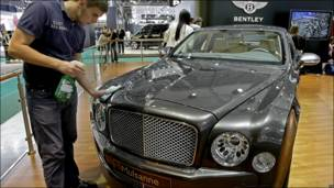 Bentley Mulsanne на московском автосалоне