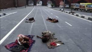 Бездомные в Дели