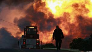 Incendios en San Bruno, California