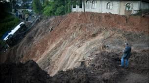 Селище, яке постраждало від зсуву