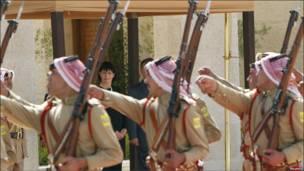 Король Иордании Абдулла и президент Швейцарии