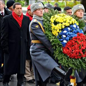 Presidente Hugo Chávez en Moscú