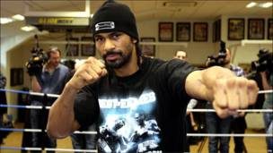 Боксер Дэвид Хэй готовится к бою с британцем Одли Харрисоном за титул WBA