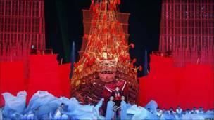 Ceremonia apertura Juegos Asiáticos en Guangzhou.