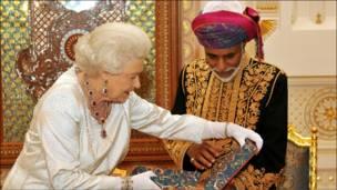 هدية من ملكة بريطانيا إلى سلطان عمان