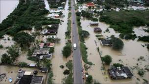 Estado Falcón inundado