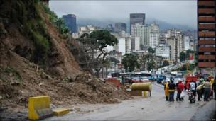 Derrumbe en Caracas