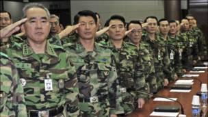 جنرالات كوريون جنوبيون