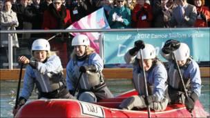 Открытие олимпийской трассы для водного слалома в Лондоне