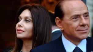 Берлускони с женой