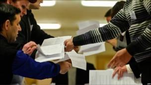 Подсчеты голосов на выборах президента в Белоруссии